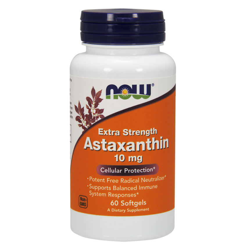 NOW Astaxanthin Астаксантин, 10 мг, капсулы, 60 шт.